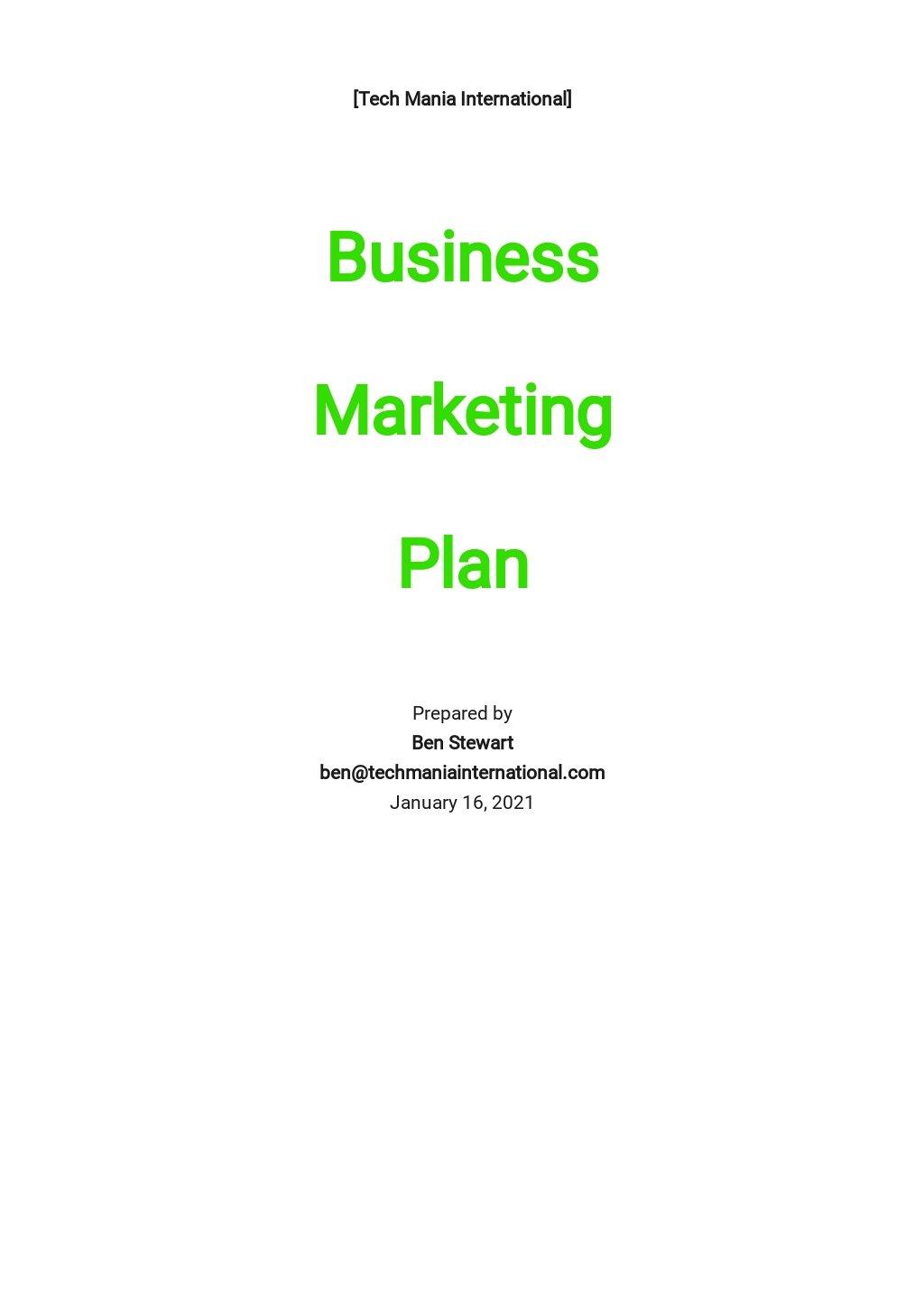 IT Business Marketing Plan Template.jpe