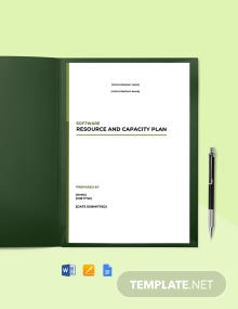 Resource and Capacity Planning Template