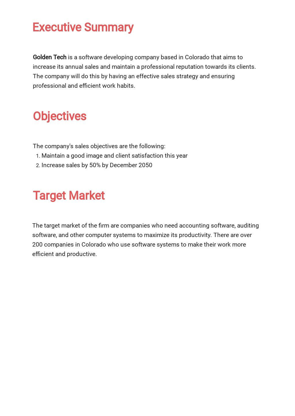 Free Sample IT Sales Plan Template 1.jpe