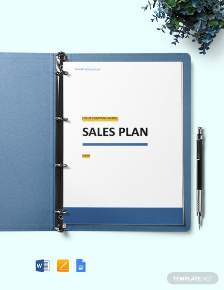 Free Simple Software Sales Plan Template