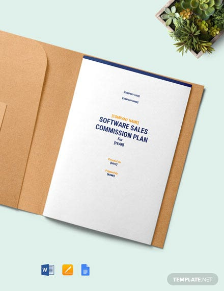 Software Sales Commission Plan Template