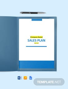 Software Product Sales Plan Template