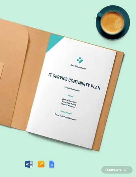 IT Service Continuity Plan Template