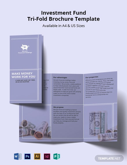 Investment Fund TriFold Brochure Template