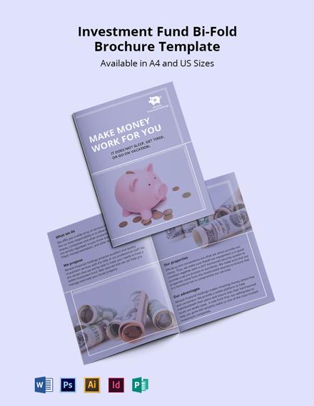 Investment Fund Bi-Fold Brochure Template
