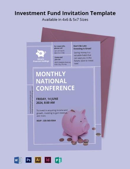 Investment Fund Invitation Template