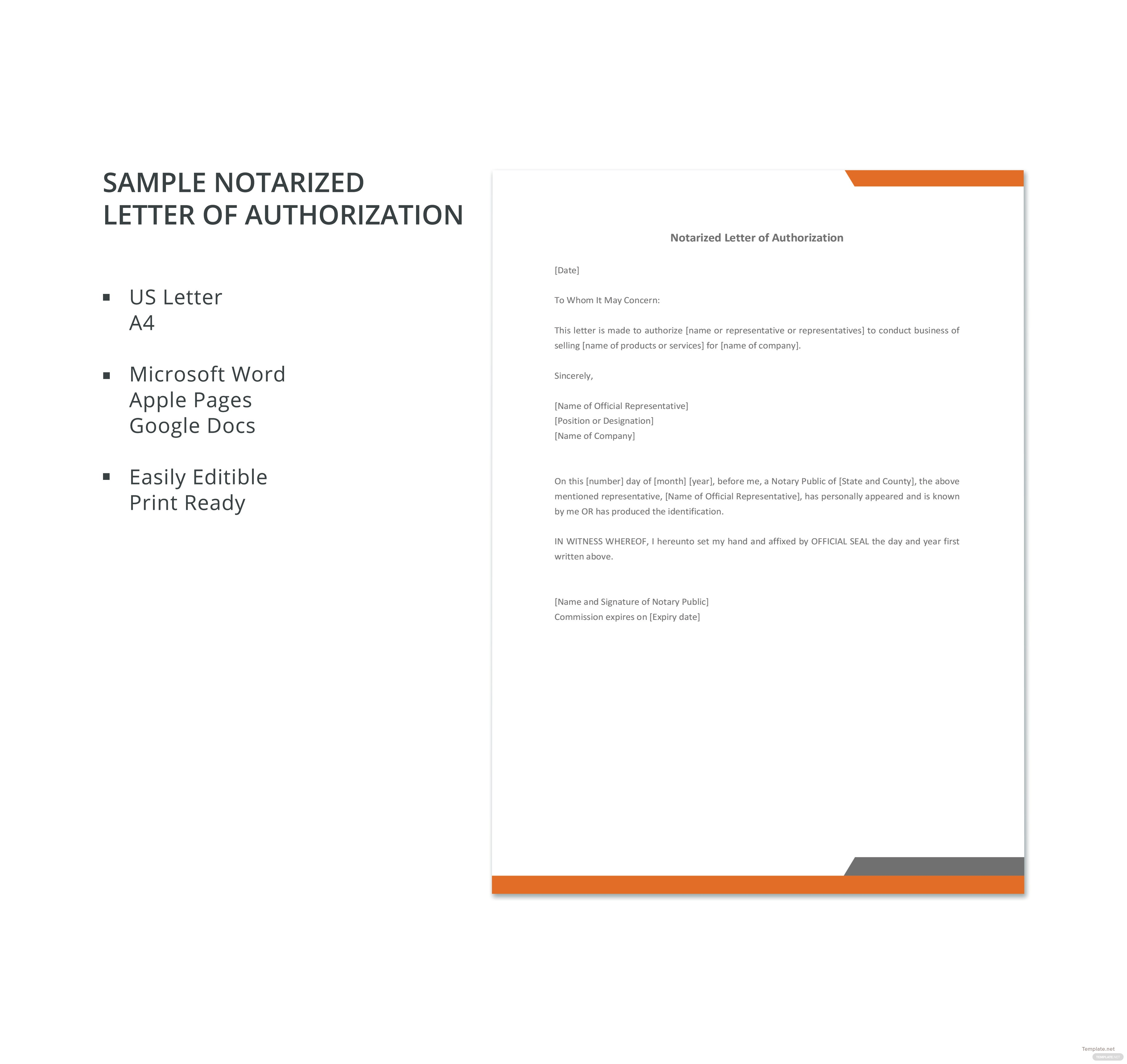 notarized template