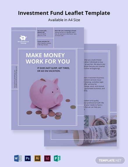 Investment Fund Leaflet Template