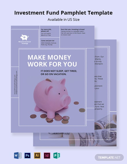 Investment Fund Pamphlet Template