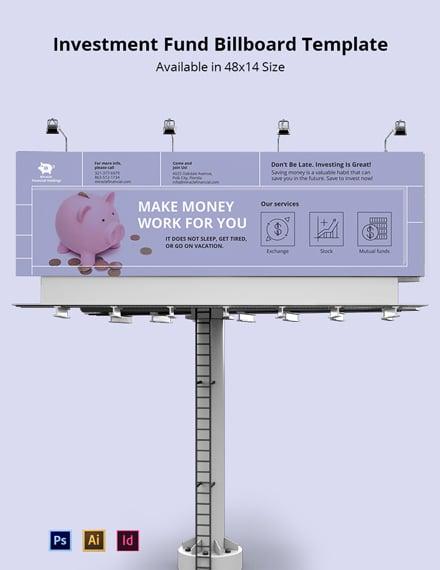 Investment Fund Billboard Template