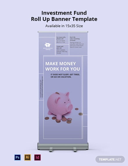 Investment Fund Roll Up Banner Template