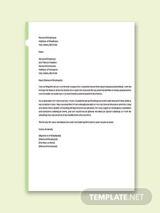 Simple vacation letter template in microsoft word apple pages vacation leave letter sample spiritdancerdesigns Image collections