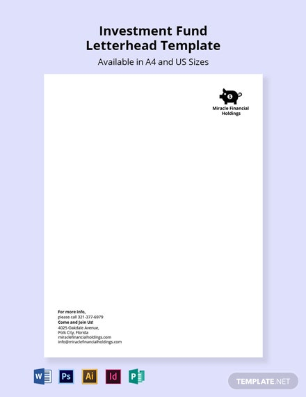 Investment Fund Letterhead Template