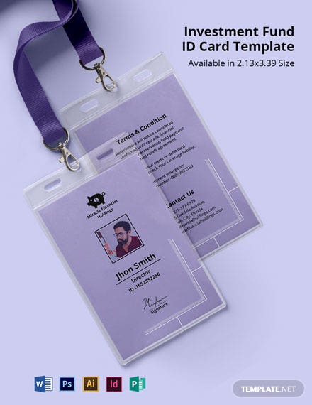 Investment Fund ID Card Template