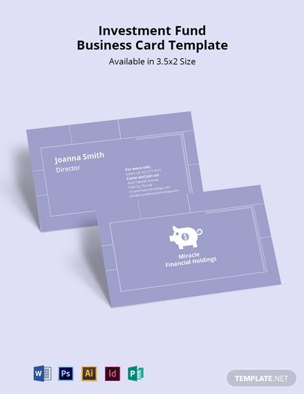 Free Investment Fund Business Card Template