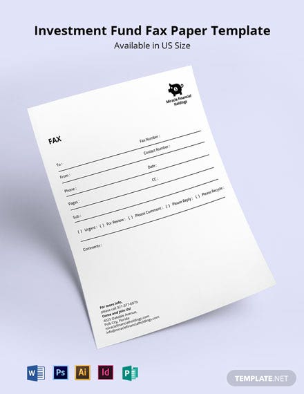 Investment Fund Fax Paper Template