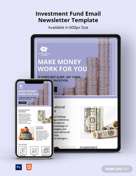 Free Investment Fund Email Newsletter Template