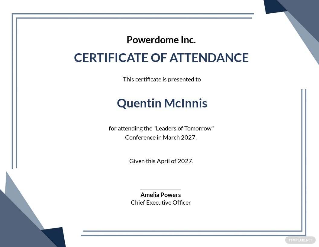 Free Conference Attendance Certificate Template.jpe
