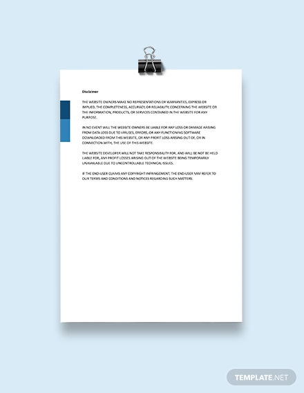 Notice of Copyrighted Material on Website and Waiver of Liability Template