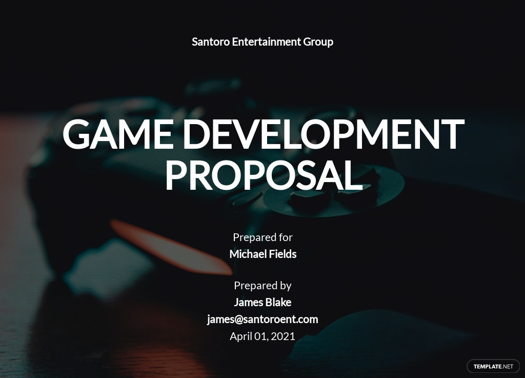 Game Development Proposal Template