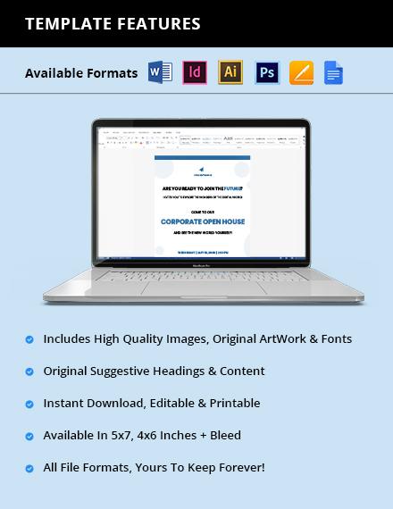Free Creative IT Company Invitation Printable