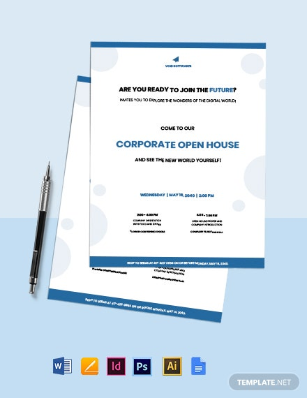 Free Creative IT Company Invitation Template