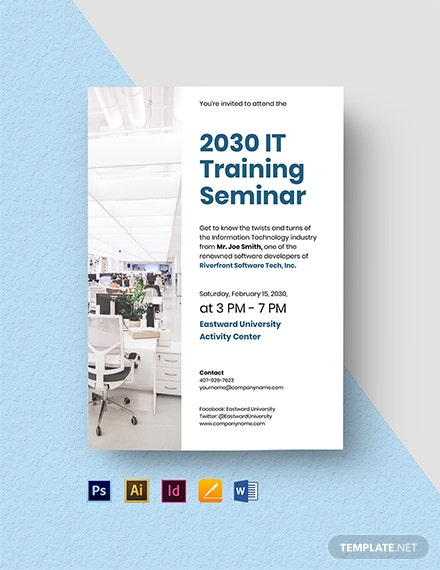IT Seminar Invitation Template