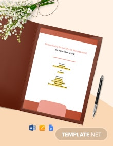 Internal Consulting Report Template