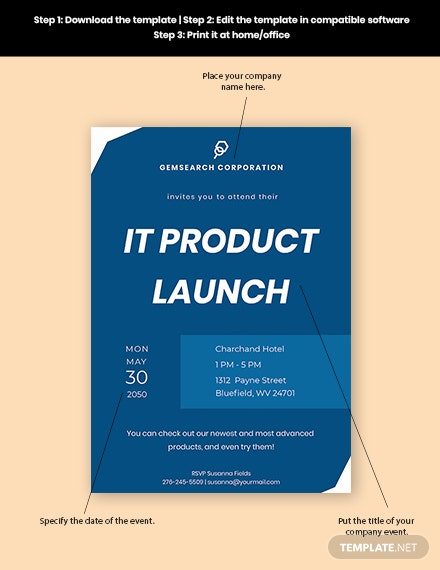 IT Company Invitation  Format