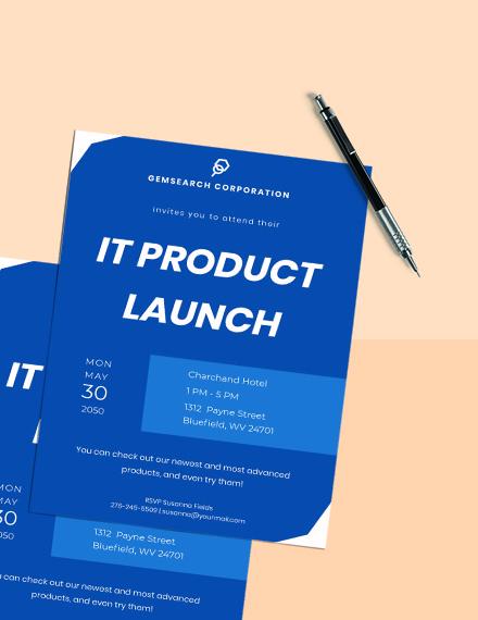IT Company Invitation  Sample