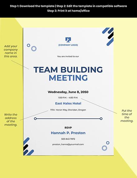 IT Meeting Invitation Template Format