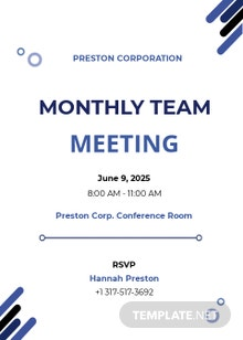 IT Meeting Invitation Template