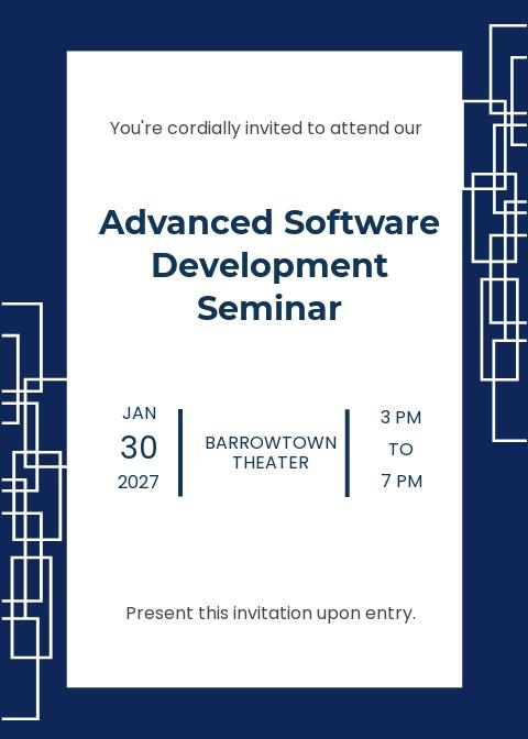 Software Seminar Invitation Template