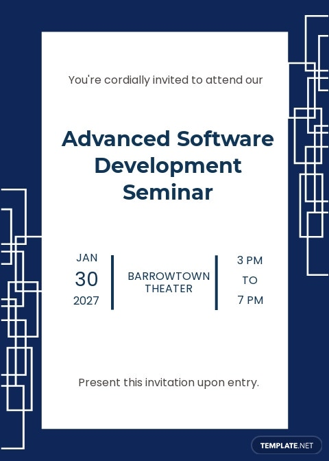 Software Seminar Invitation Template