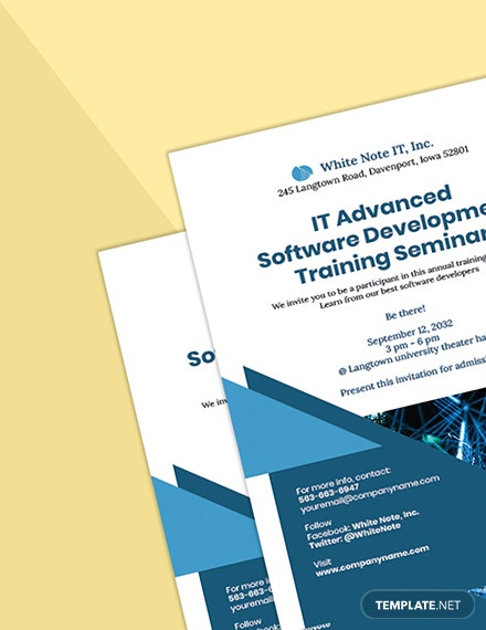 IT Training Invitation Template sample