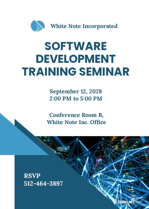 IT Training Invitation Template
