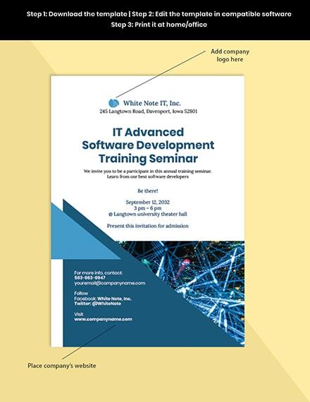 IT Training Invitation guide