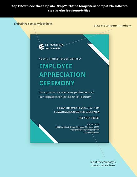 IT Employee Appreciation Invitation Template Format