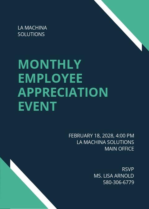 IT Employee Appreciation Invitation Template