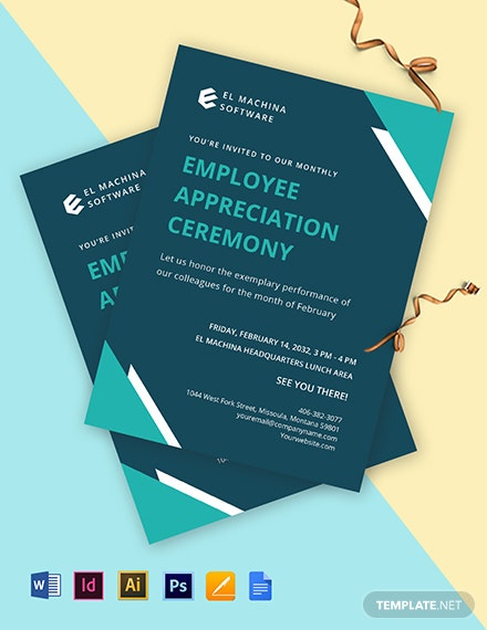 IT Employee Appreciation Invitation Template