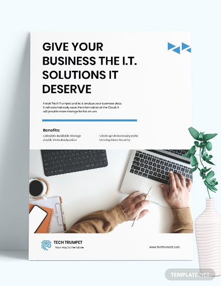 Free Simple IT Poster Template download