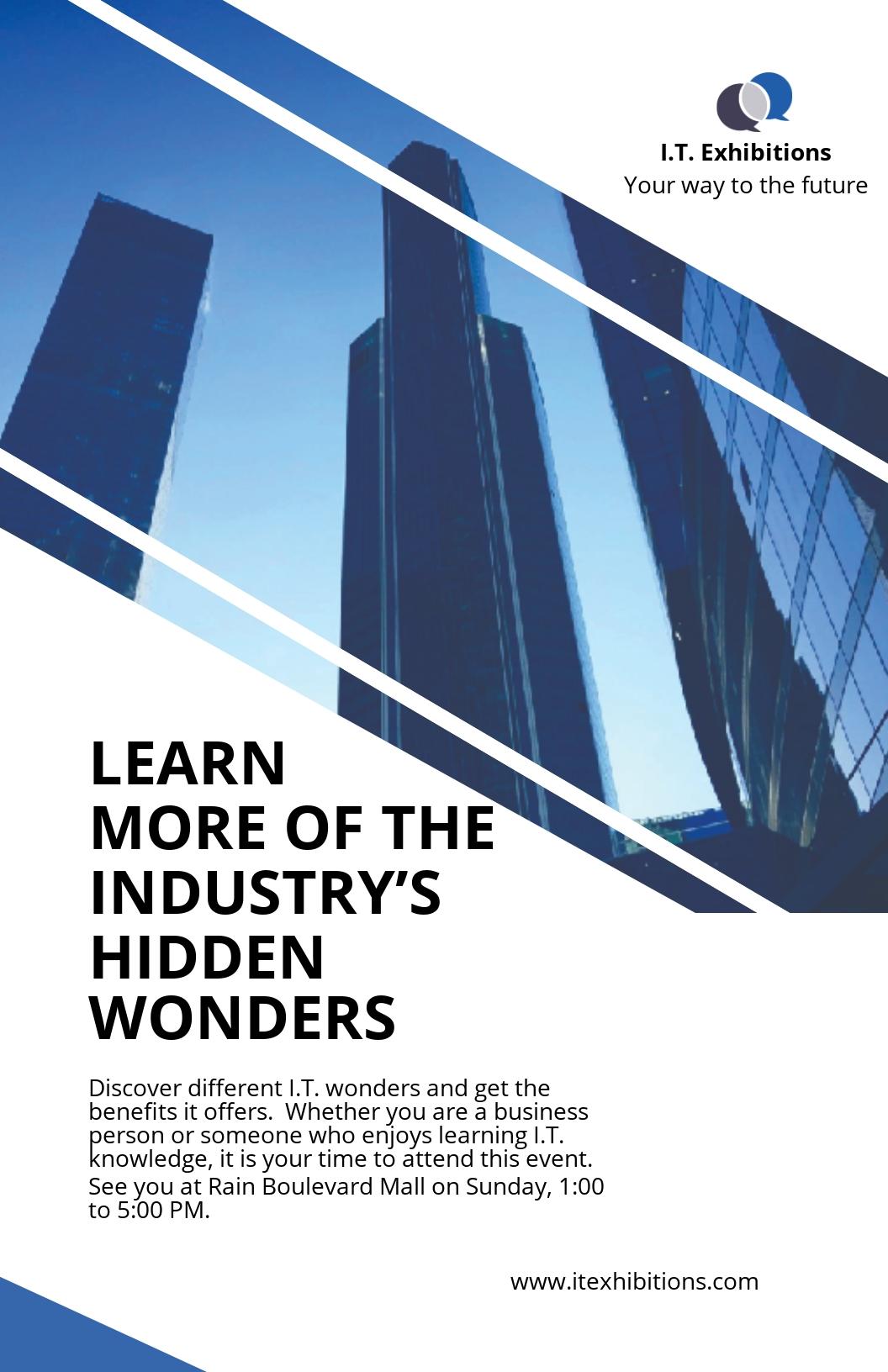 Modern IT & Software Poster Template