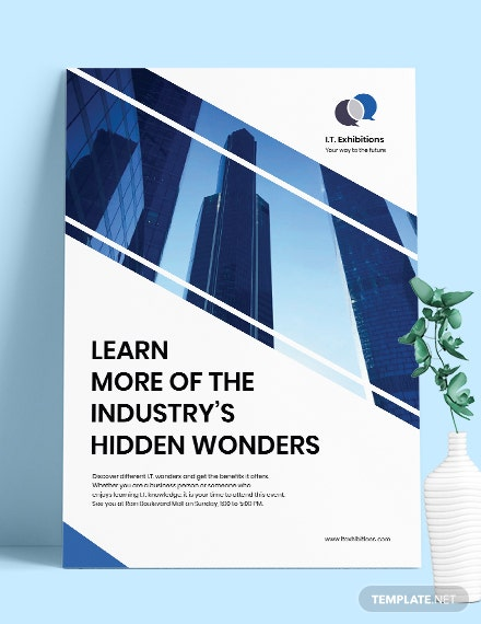 Free Modern IT  Software Poster Template download