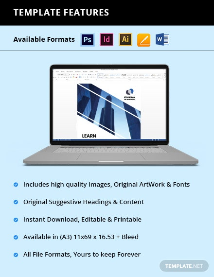Free Modern IT  Software Poster Template format