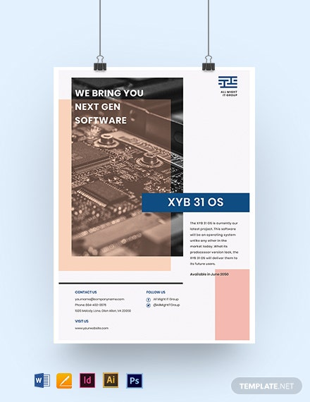 IT Project Poster Template
