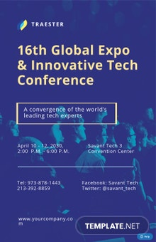 IT Conference Poster Template