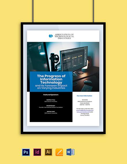 IT Seminar Poster Template