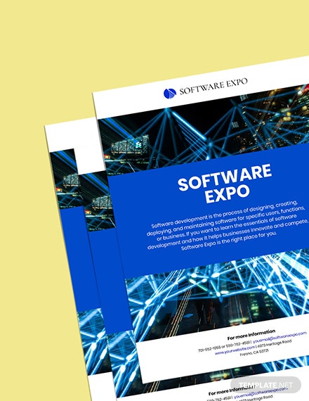 Software Promotion Poster Template sample
