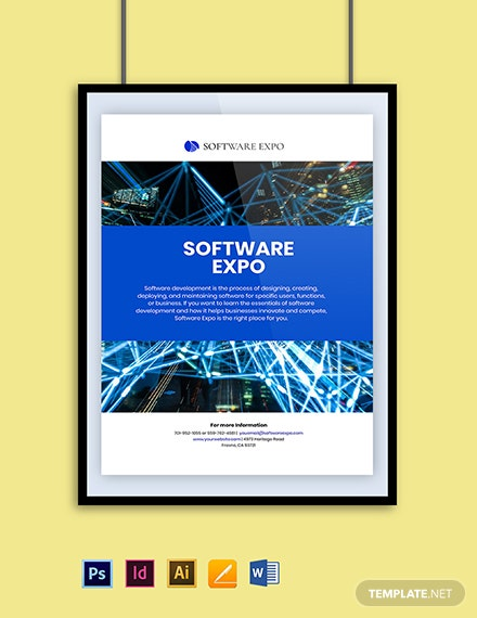 Software Promotion Poster Template