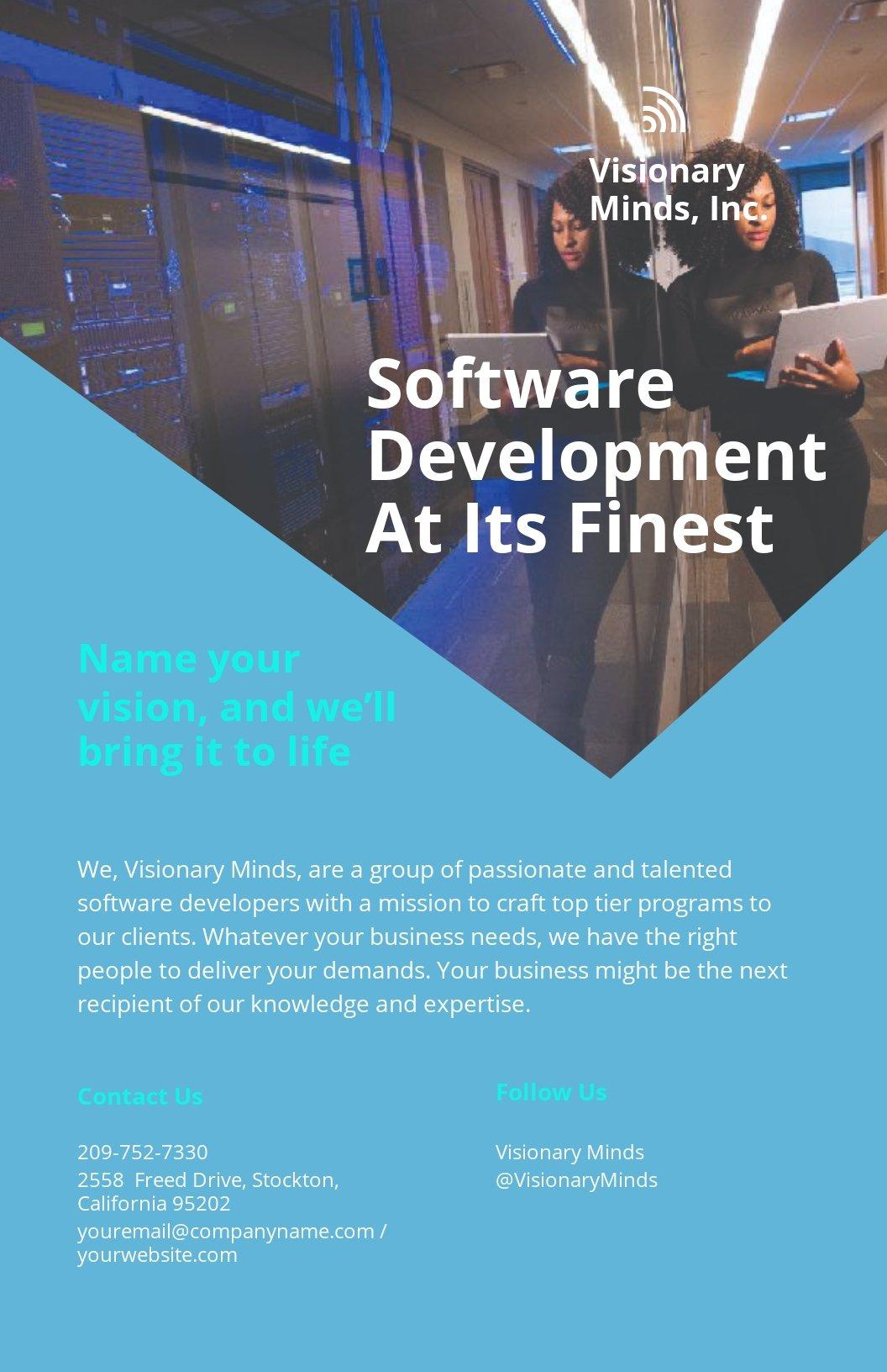 Software Developer Poster Template